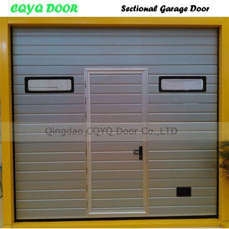 garage door with pedestrian door ce certificated automatic garage doors with pedestrian