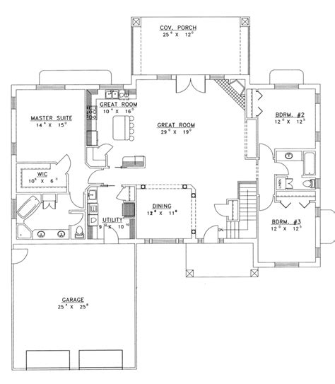 house plans with open floor plans ranch house plans with open floor plan chanhassen ridge ranch home plan 088d 0139 house