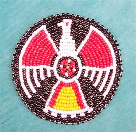 beaded rosettes patterns quot black eagle quot american indian beaded rosette 3 inch ebay