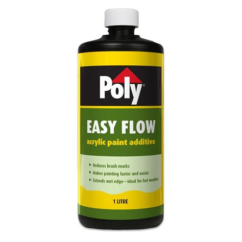 acrylic paint additives poly 1l easyflow paint additive ebay