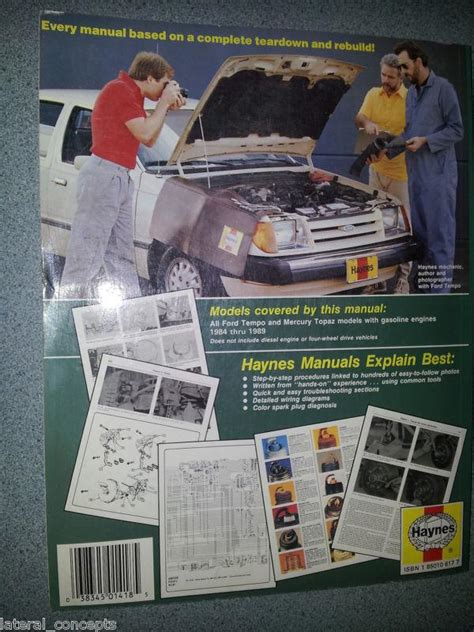 purchase haynes manual 1418 ford tempo mercury topaz purchase haynes manual 1418 ford tempo mercury topaz 1984 1989 all gasoline engines