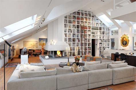 Kelly Hoppen Dining Room by Amazing Stockholm Loft With 16 Feet Ceilings Digsdigs