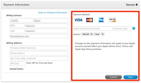 how to make payment on store card itunes store how to change credit card data for apple id