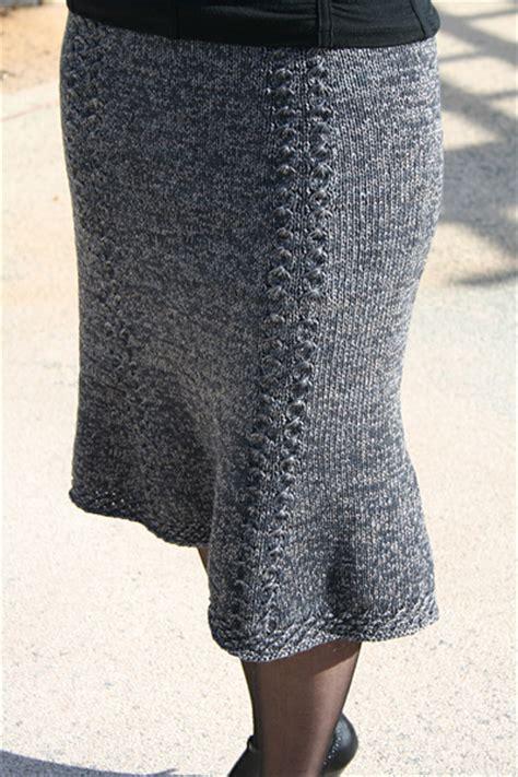knitted skirt bell curve skirt winter 2007 knitty