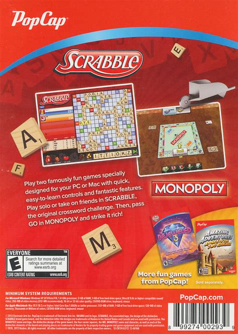 scrabble monopoly scrabble monopoly 2x pc windows xp vista 7 8