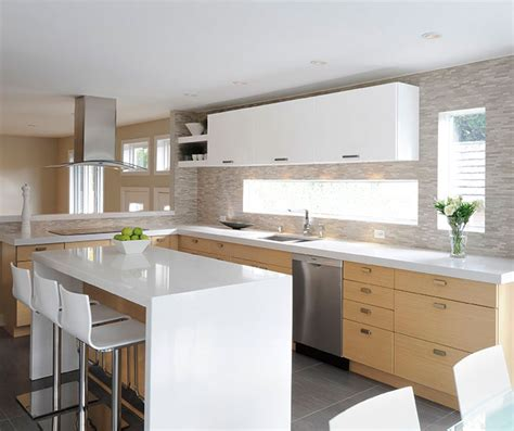 white oak kitchen cabinets white oak kitchen cabinets with gloss white accents