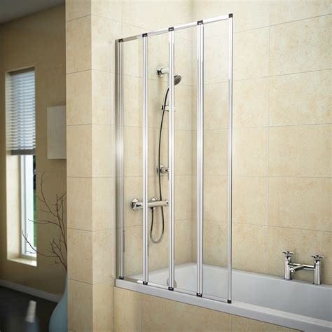 bath folding shower screens haro 4 fold bath screen now available at