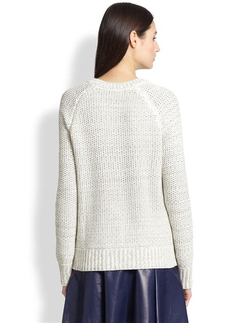chunky knit sweaters vince chunky knit sweater in lyst