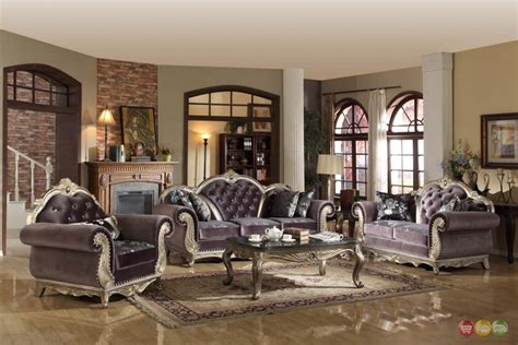 grey living room furniture set luxurious tufted gray velvet platinum