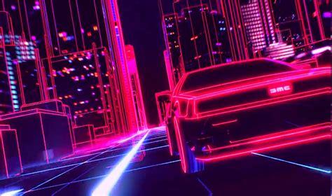 80s Car Wallpaper by New Retro Wave Synthwave 1980s Neon Delorean Car