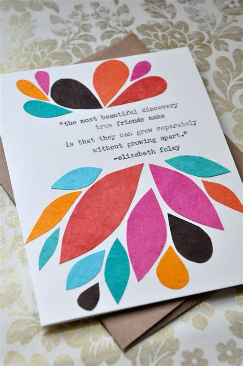 how to make friendship cards birthday card handmade greeting card friendship quote