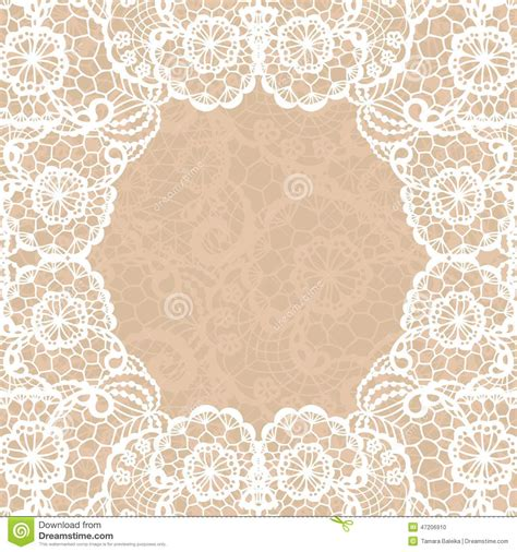 lace templates card vintage lace invitation card stock vector image 47206910