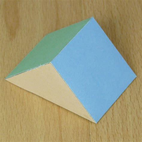 rectangular prism origami paper triangular prism
