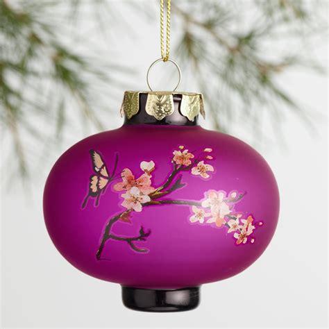 lantern ornaments glass plum blossom lantern ornaments set of 3 world market
