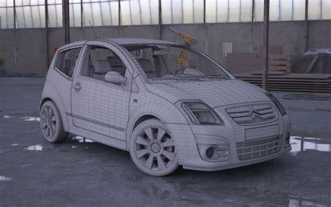 Citroen Car Models by Car Model Citroen C2 3d Model Cgtrader