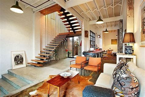 Modern Industrial Home Decor touch of new york loft style warehouse conversion in