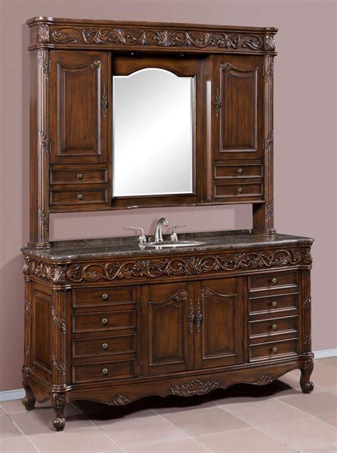 bathroom vanity hutch 65in kessler vanity vanity with hutch antique