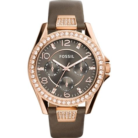 fossil watches with leather bands fossil s multifunction brown leather es3888 leather band jewelry watches