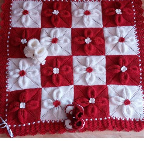 how to knit a flower for a baby hat flower baby blanket free knit pattern stylesidea