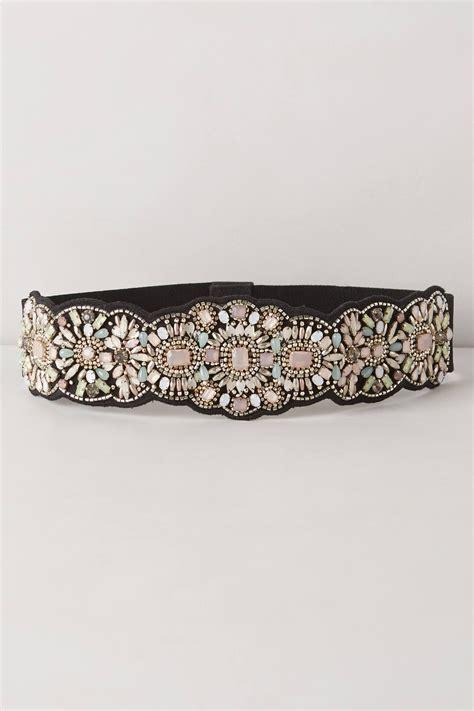beaded belts anthropologie bloomhurst beaded belt in purple lyst