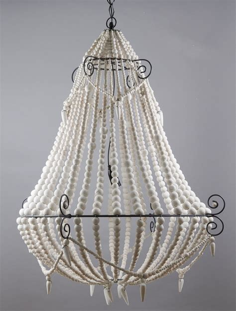 beaded chandelier beaded chandelier large white emac lawton