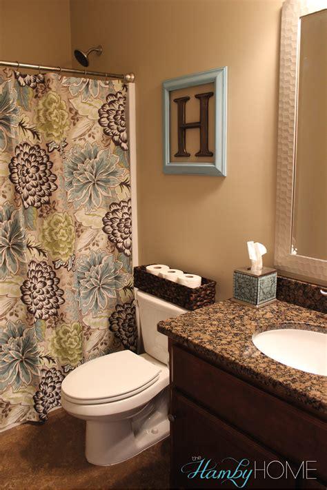 bathroom decorating ideas photos tgif house tour guest bathroom the hamby home