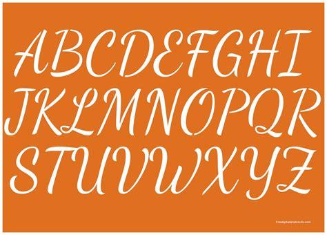 1 Inch 50 S Cursive Script Alphabet Stencils Uppercase