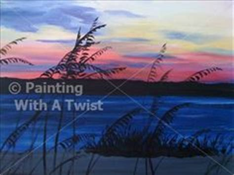 paint with a twist nc weekend winedown sea oats sunset nc painting