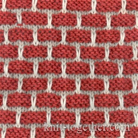 two colour knitting patterns free knit together two color bricks pattern knitting pattern