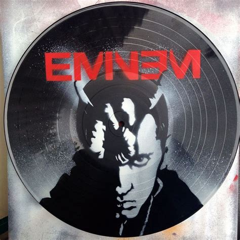 spray paint records eminem vinyl record spray paint handmade decoration clock