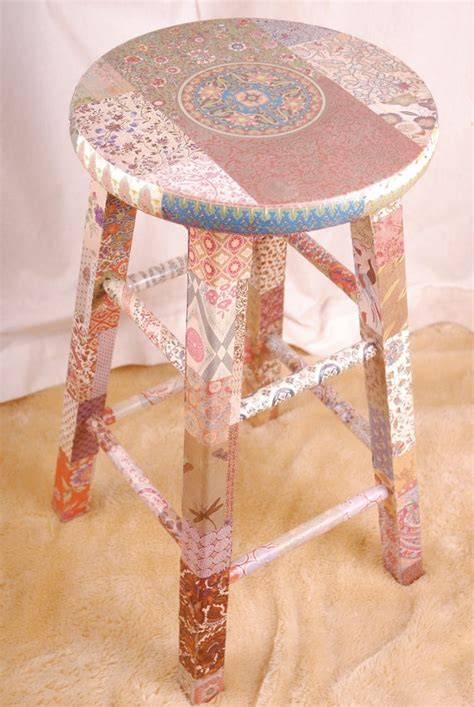 decoupage stool unique wooden stool decoupage quot reika quot awesome trays