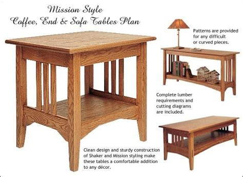 mission woodworking mission style end table plans diywoodtableplans