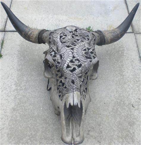 carved buffalo skull make something mondays