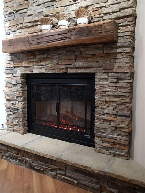 fireplace stones faux fireplace houzz