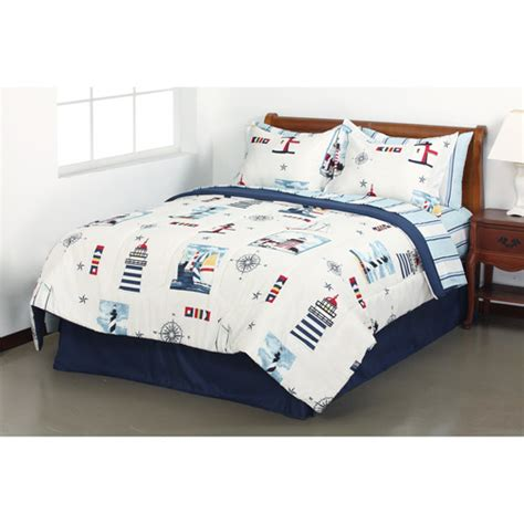 lighthouse comforter sets get the mainstays lighthouse bed in a bag bedding set at