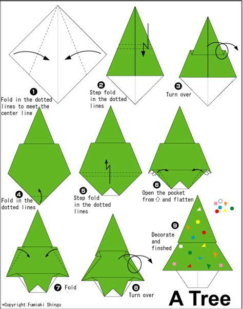 origami tree step by step 折纸大全 圣诞树的简单折法 折纸大全 5068儿童网