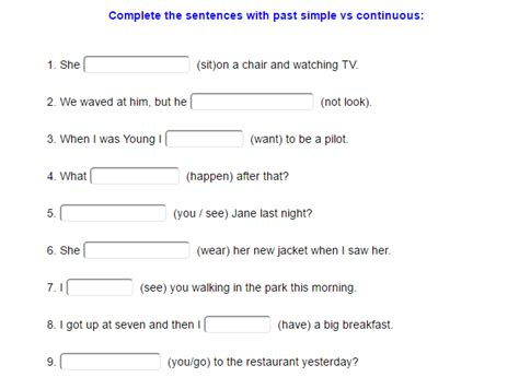 preguntas faciles en pasado simple pasado simple vs pasado continuo ejercicio didactalia