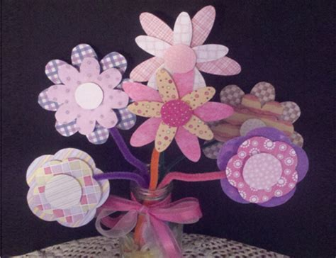 paper craft flowers bouquet crafty paper flower bouquet for free printable