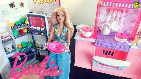 juegos de barbie cocina juegos de barbie la barbie en la cocina youtube
