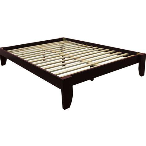 solid platform bed frame solid size platform bed frame without headboard of
