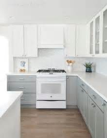 top kitchen cabinets kitchen with white top cabinets and gray bottom cabinets