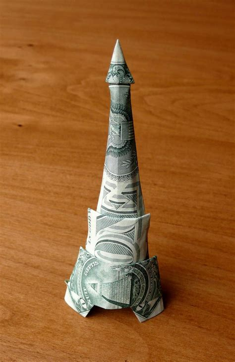 origami eiffel tower 17 best images about origami on dollar bill
