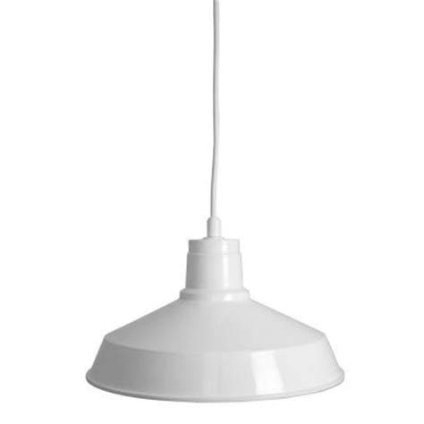 home depot pendant lights home decorators collection 1 light industrial gloss white