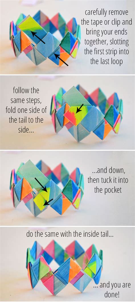 how to make jewelry out of paper how to make folded paper bracelets picklebums
