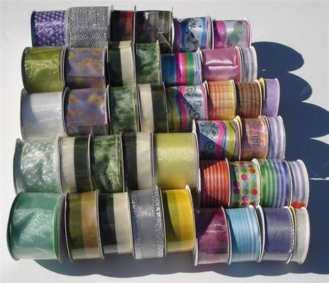 42 Pcs Ribbon Spools Wholesale Lot Floral Bulk Crafts Bows