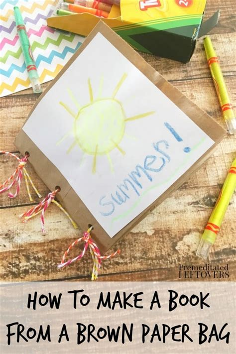 make picture books how to make a paper bag book for