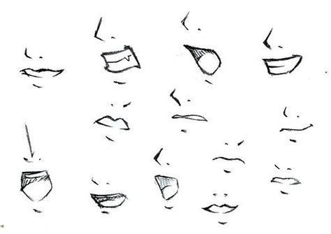 how to draw mouths anime mouths and noses how to draw search