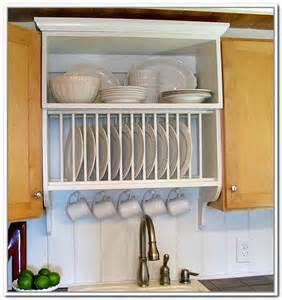 kitchen cabinet plate rack storage dish storage rack cabinets home design ideas