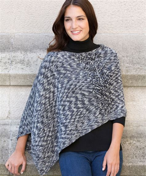 knitted poncho pattern free pattern friday knit poncho pattern from