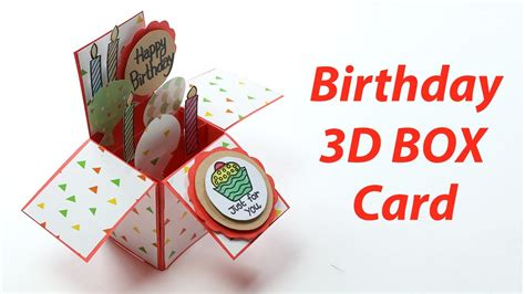 3d birthday cards to make 3d birthday card handmade unique pop up box b day card